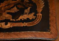 Striking 19th Century French Ebonised & Marquetry Side Table c.1880 (13 of 16)