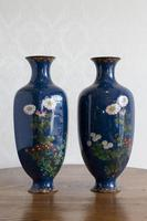 Large Pair of 19th Century Japanese Cloisonné Vases