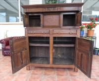 Country Oak Court Cupboard 1734 Carved Initials RTK (7 of 14)
