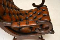 Regency Style Leather Armchair & Stool (6 of 14)