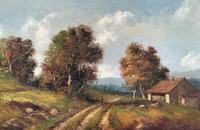 Large Fabulous Early 1900s British Farming Impressionist Landscape Oil Painting (4 of 13)