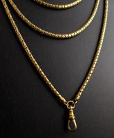 Victorian Snake Link Guard Chain, Muff Chain Necklace (11 of 12)