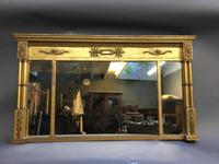 19th Century Gilt Overmantel Mirror (6 of 10)