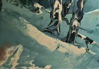 George Richard Deakins Superb Winter Landscape Oil Painting (8 of 11)