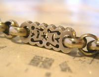 Antique Pocket Watch Chain 1890s Victorian Large Silver Nickel Fancy Link Albert (6 of 12)