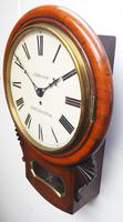 Rare Antique Drop Dial Wall Clock 8 Day Single Fusee Movement (12 of 13)