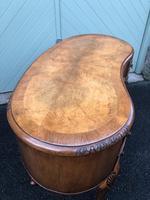 Antique Walnut & Burr Walnut Kidney Shaped Desk (5 of 13)