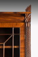 Regency Period Mahogany Bookcase with Matching Flared Panels to the Bottom Doors (4 of 6)