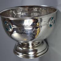 Rare Arts & Crafts Liberty & Co HM Silver & Enamel Cymric Bowl c.1905- Signed (11 of 14)