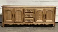 French Bleached Oak Sideboard or Dresser Base (2 of 23)