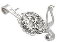 4.39ct Diamond & Platinum Earrings - Art Deco - Vintage c.1940 (6 of 9)