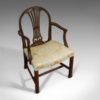 Pair of Antique Hepplewhite Revival Carvers, Mahogany, Armchair, Victorian (6 of 12)