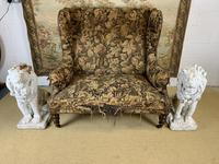 19th Century Two Seat Wingback Settee (8 of 8)