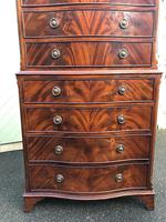 Quality Mahogany Serpentine Chest on Chest (7 of 11)