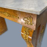 French Burr Walnut & Marble Top Console Table (14 of 14)