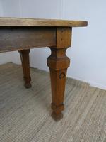 Large English 19th Century Oak Table (4 of 9)