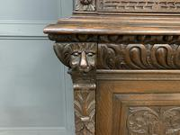 Imposing Carved Oak Bookcase (10 of 23)