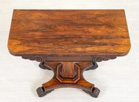 Rosewood William IV Card Table (4 of 8)