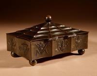Original Patinated Metal Rectangular Box in the Style of Dagobert Peche Winer Werkstätte (4 of 9)