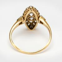 Antique Edwardian Marquise Shape 1.00 Carat Diamond Cluster Ring c.1901 (2 of 5)