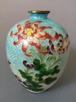 Japanese Ginbari Foil Enamelled Vase