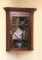 Mahogany Corner Wall Cabinet (5 of 9)