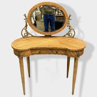 French Bleached Kidney Shaper Dressing Table (2 of 6)