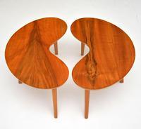 Pair of Vintage Walnut Kidney  Side  Tables (4 of 9)