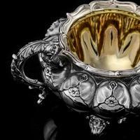 Magnificent Georgian Solid Silver Tea Set / Service 3 Piece Set - Barnard 1835 (14 of 29)