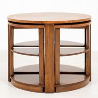 Walnut Art Deco Nest of tables (6 of 7)