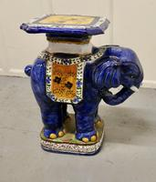 Colourful North African Terracotta Elephant Statue Seat (4 of 10)