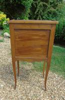Antique French Fruitwood Bedside Cabinet Leather Book Fronts (8 of 8)