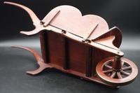 Charming Early 20th Century Mahogany Child's Wheelbarrow (5 of 5)