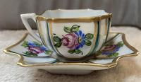 Limoges Hand Painted Cup and saucer. (4 of 4)