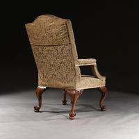 Mid 18th Century George II Walnut Library Open Armchair of Grande Scale (5 of 9)