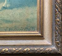 Aft: Emil Volkers Beautiful Vintage Framed Equestrian Print On Board (9 of 12)