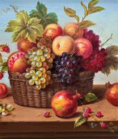 Original Vintage Still Life of Fruit & Flowers - 'Tom Caspers' 20thc British (9 of 12)