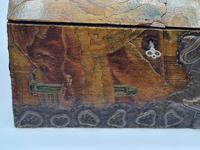 Antique Russian Wood Box with Basma Abramtsevo - Very Large (5 of 13)