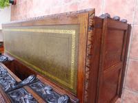 Country Oak Lions Head Pedestal Desk 1850 W M Richardson Ltd (8 of 12)