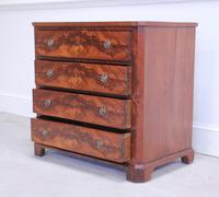 19th Century Continental Flame Mahogany Chest of Drawers (11 of 12)