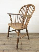 Antique Beech & Elm Windsor Armchair (6 of 7)