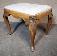 Queen Anne Style Walnut Stool c.1920 (3 of 10)