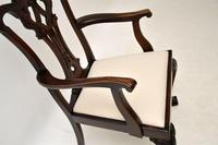 Set of 8 Antique Mahogany Chippendale Dining Chairs (13 of 14)