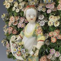 Derby Porcelain Pair Bocage Candlestick Figures Children Gardeners c.1770 (7 of 12)
