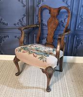 Quality Burr Walnut Child's Chair (4 of 13)