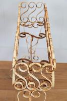Wonderfully Aged 1950s Wrought Iron Plant Stand (9 of 12)