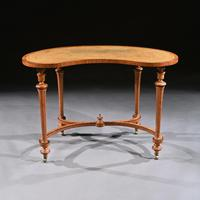 Fine 19th Century Satinwood Kidney Shape Side Writing Table In The Manner Of Gillows (4 of 11)