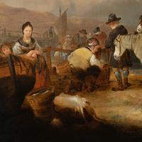William Shayer, Senior - Fisherfolk on the Beach, Oil on Canvas (5 of 9)