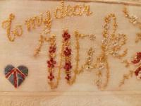Early 20th century embroidered silk greetings cards (8 of 16)