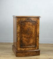 Fine Pair of Victorian Burr Walnut Bedside Cabinets (4 of 8)